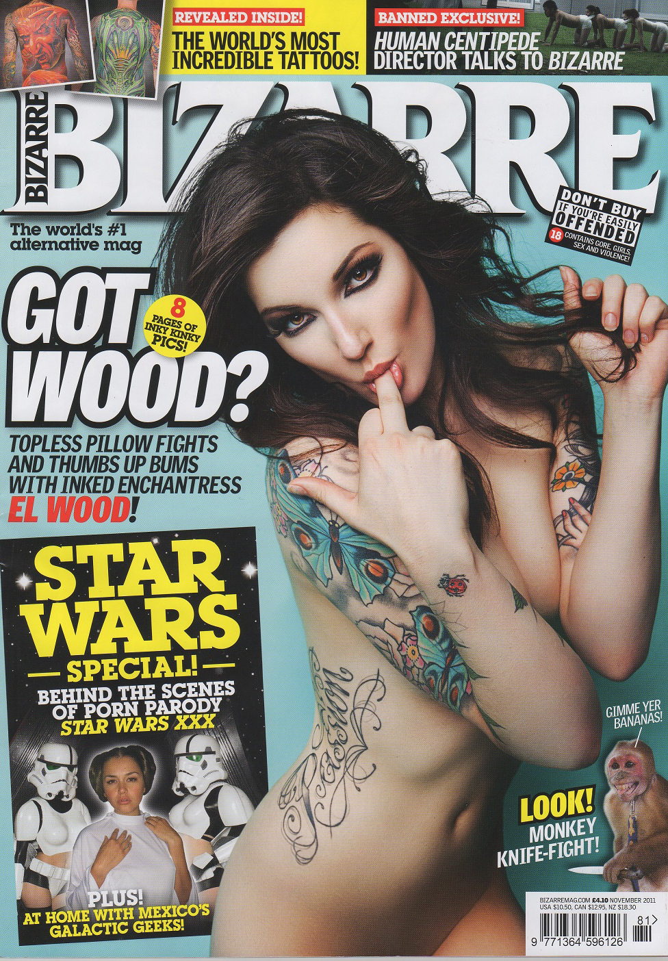 ... it features a GREAT article about thier visit to the Star Wars XXX set… ...